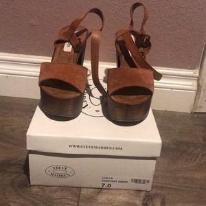 cc8e9041170 Steve Madden Shoes - Steve Madden Lulla chestnut suede heels